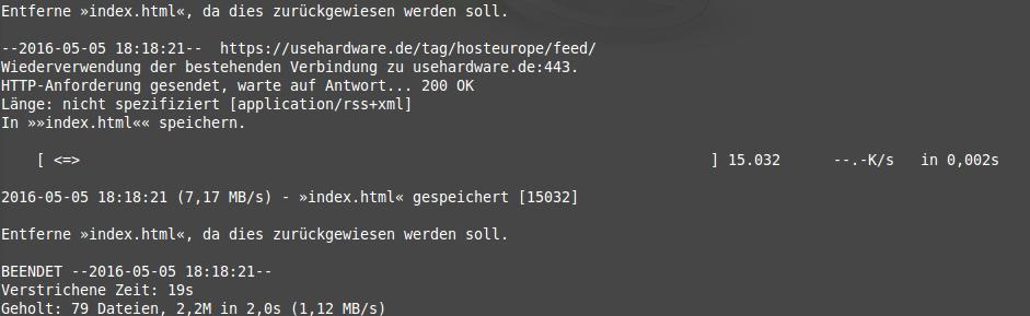 wget-Dateidownload
