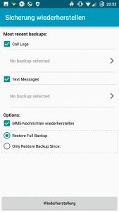 SMS Backup And Restore Wiederherstellung