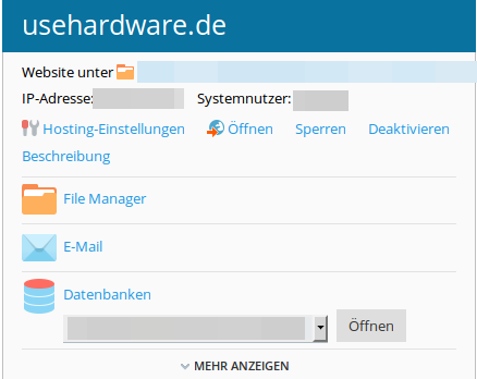 Wordpress-Dateien sichern | Plesk File-Manaer