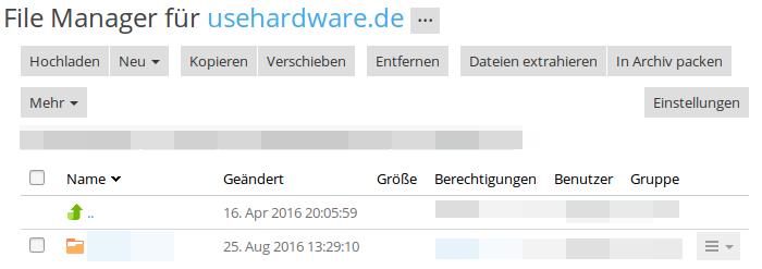 Wordpressinstallation Dateien zippen